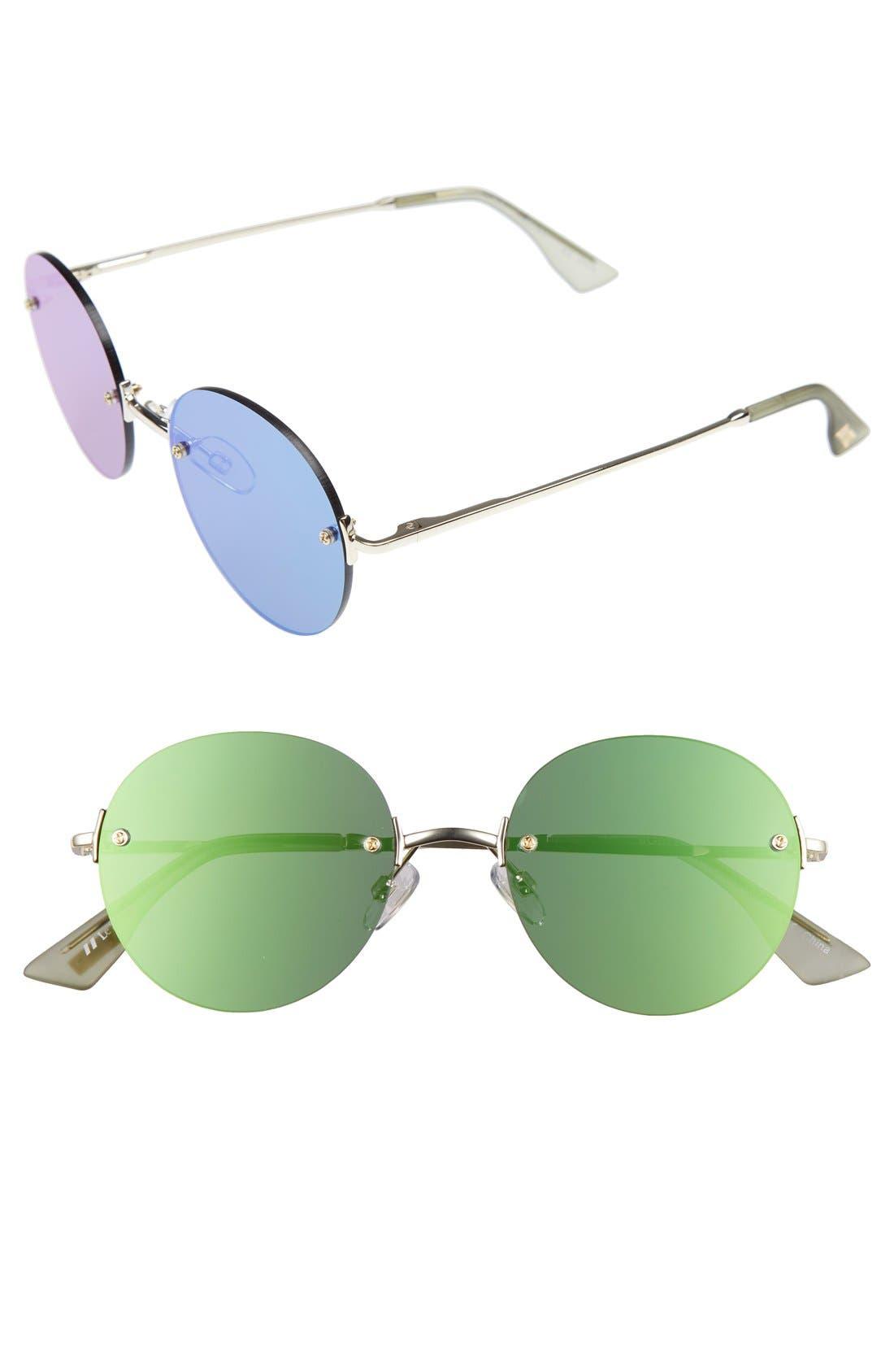 Le Specs 'Bodoozle' 49mm Round Sunglasses