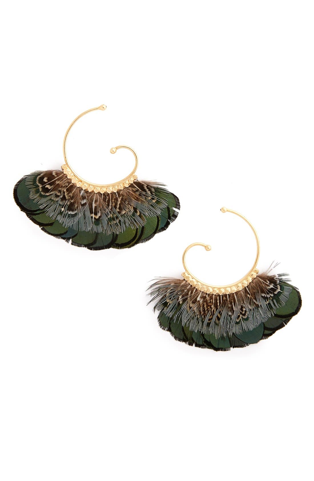 Gas Bijoux 'Buzios' Feather Earrings