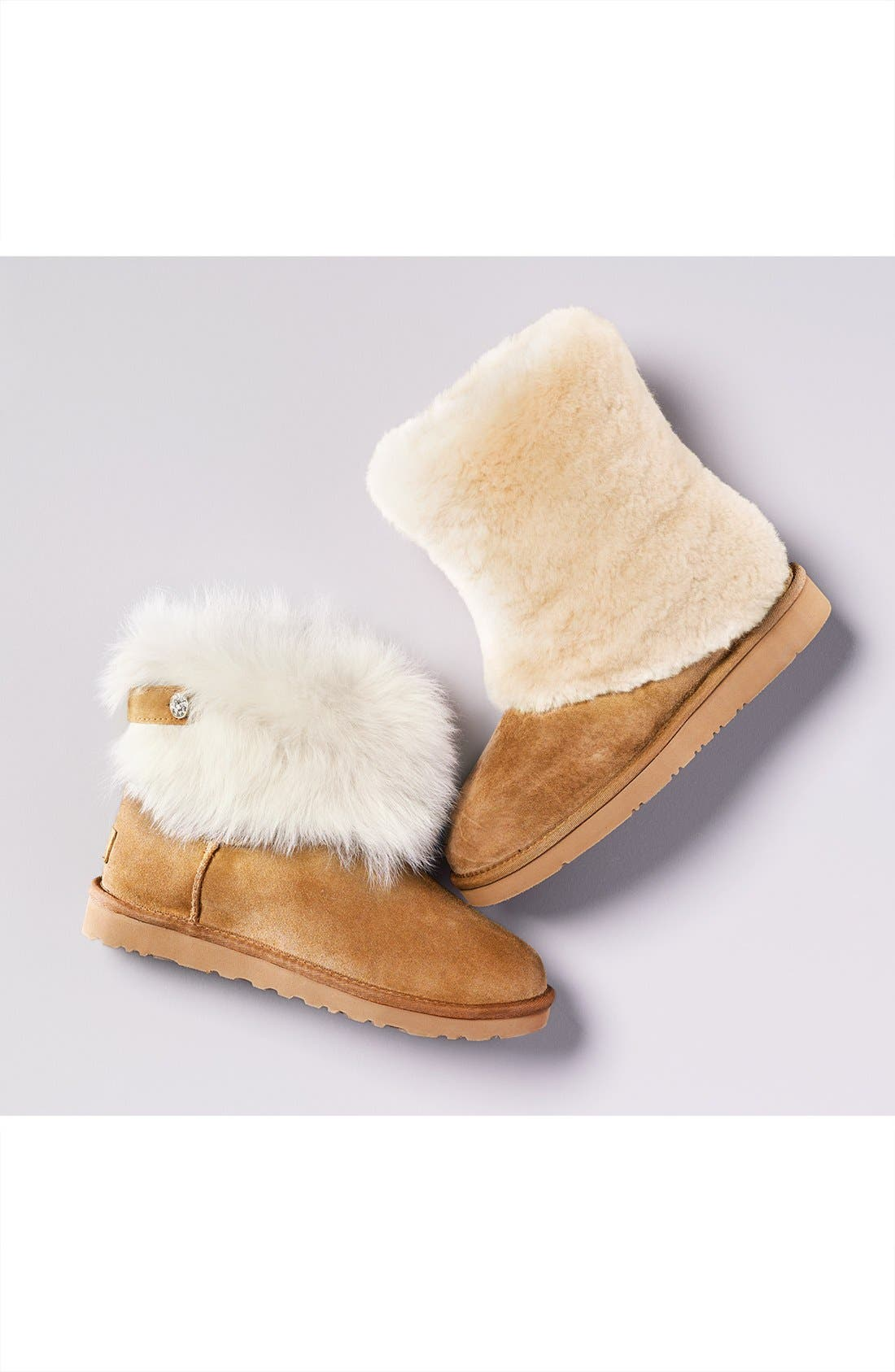 Alternate Image 5  - UGG® 'Patten' Water Resistant Silkee™ Suede Shearling Cuff Boot (Women)
