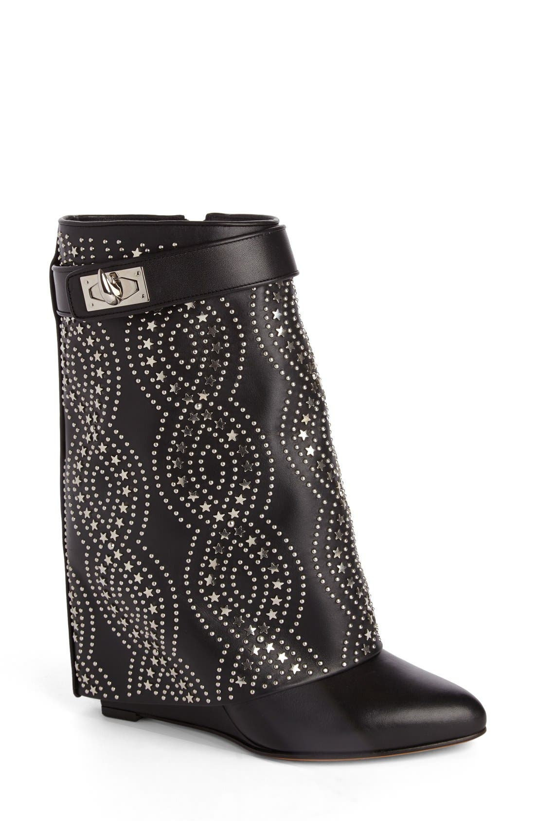 GIVENCHY Studded Shark Tooth Pant Leg Bootie