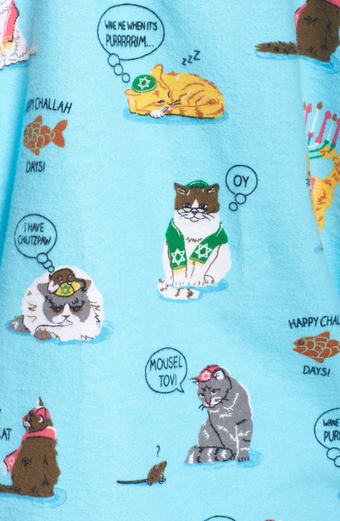 Alternate Image 5  - PJ Salvage Print Flannel Pajamas