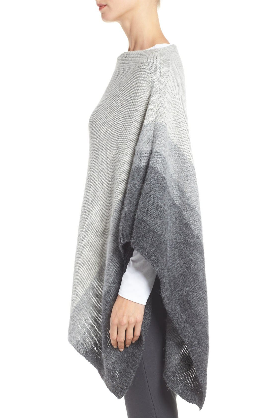 Alternate Image 3  - Eileen Fisher Ombré Alpaca Poncho