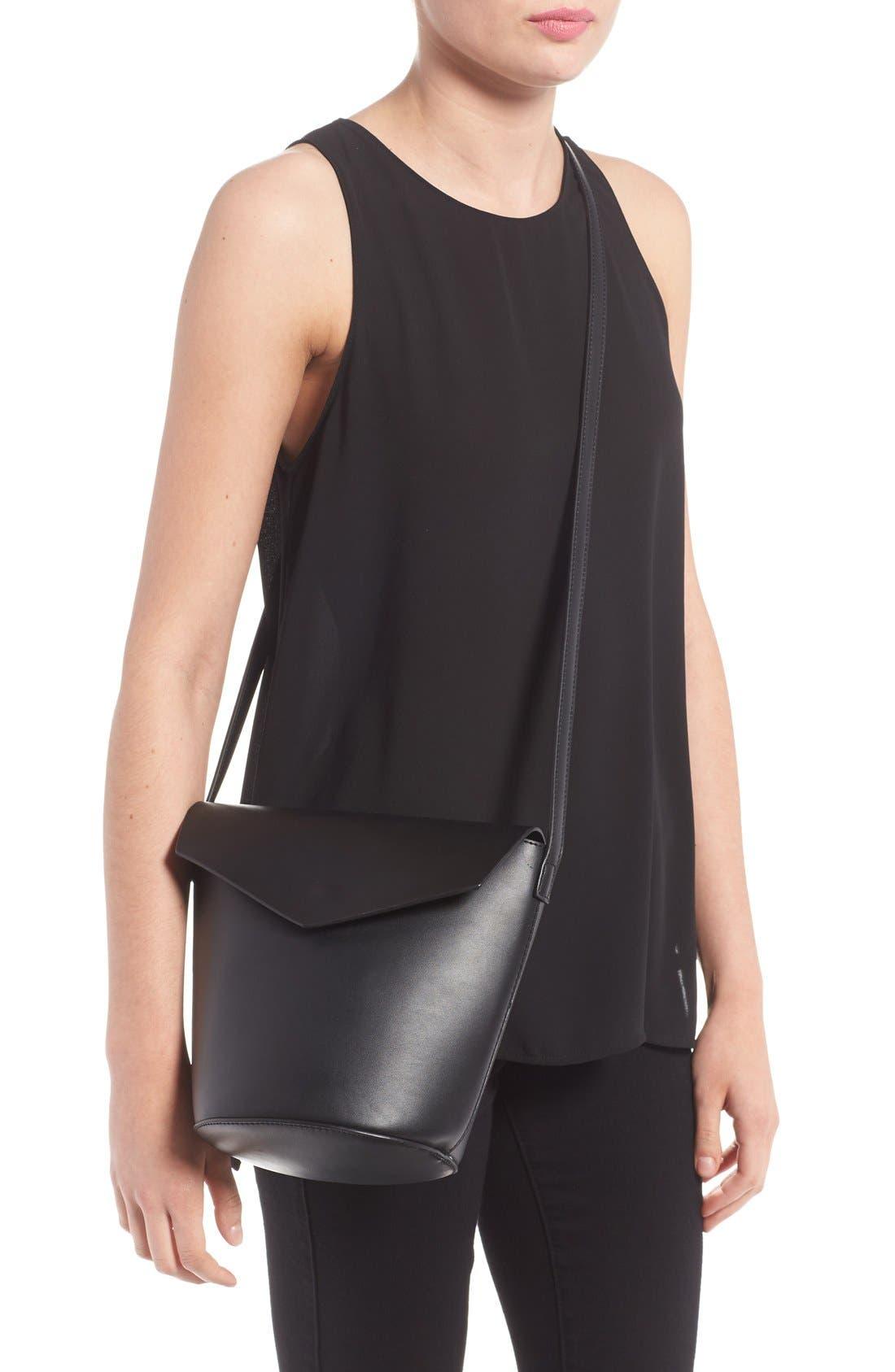 Alternate Image 2  - Street Level Faux Leather Envelope Bucket Bag