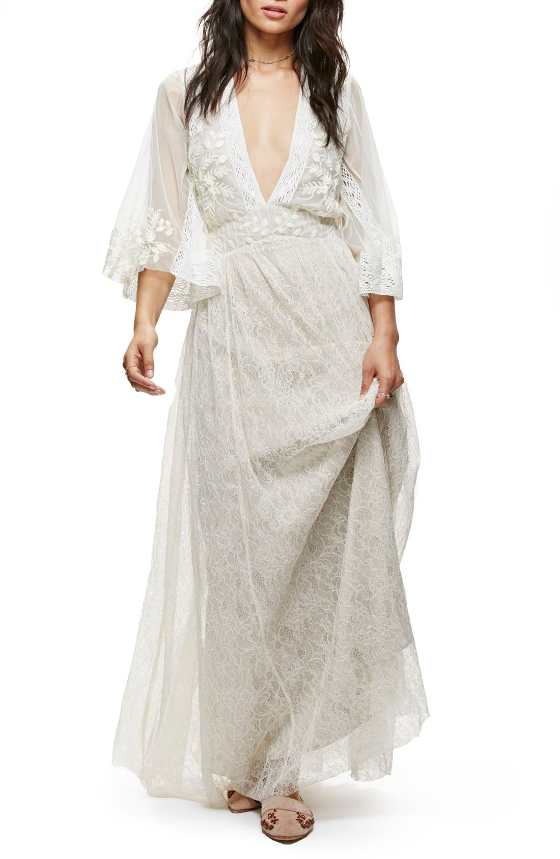 Main Image - Free People Eclair Embroidered Maxi Dress
