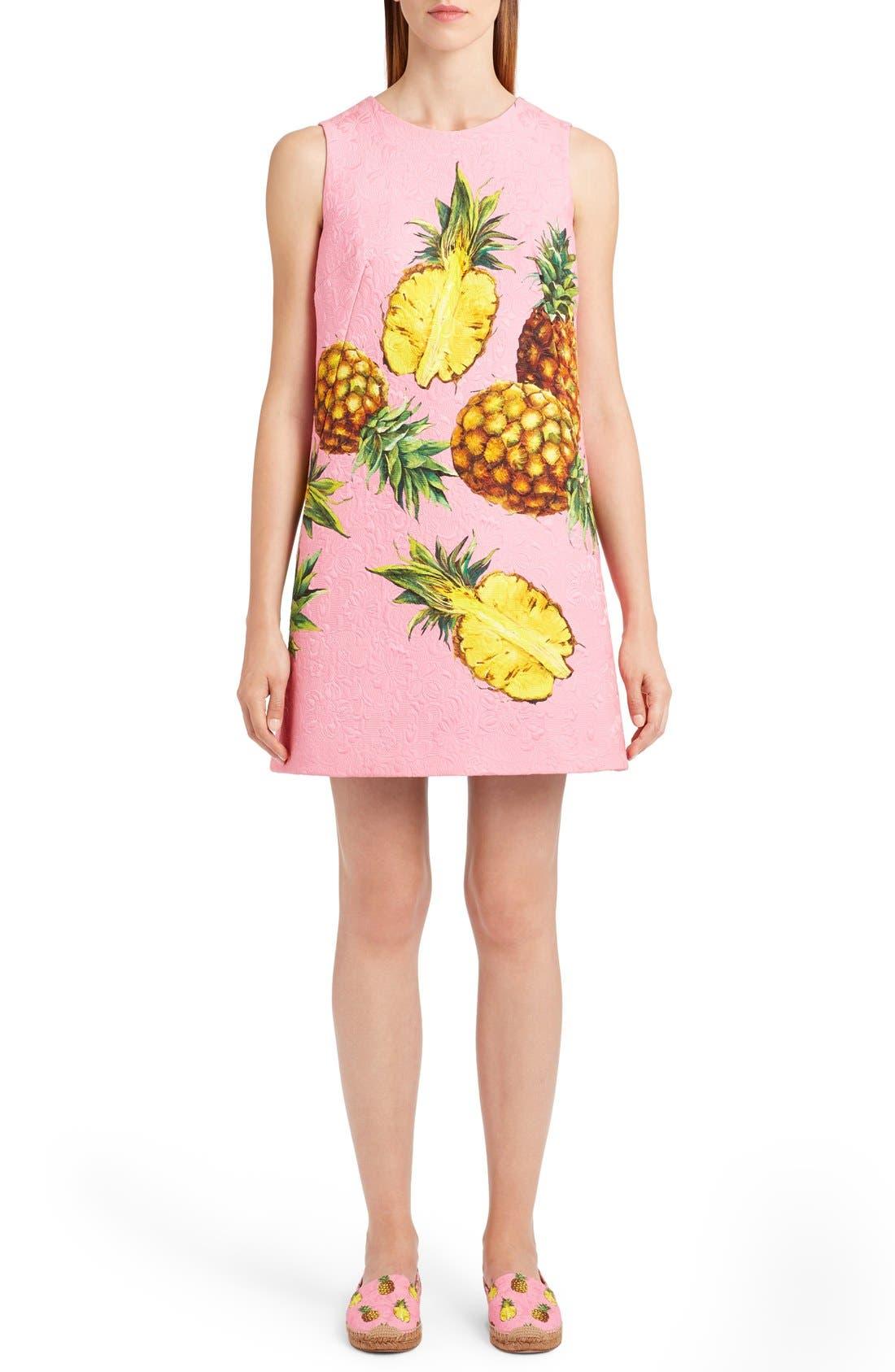 Main Image - Dolce&Gabbana Pineapple Jacquard Shift Dress