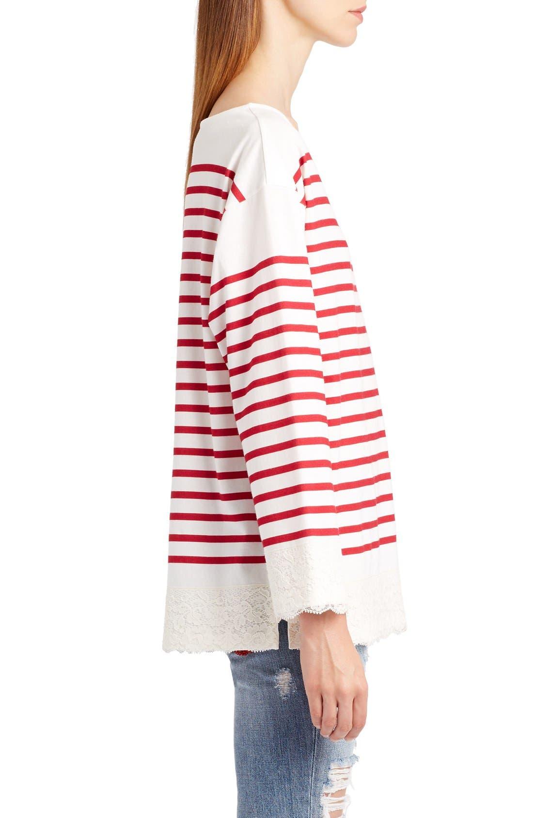 Alternate Image 4  - Dolce&Gabbana Lace Stripe Tee