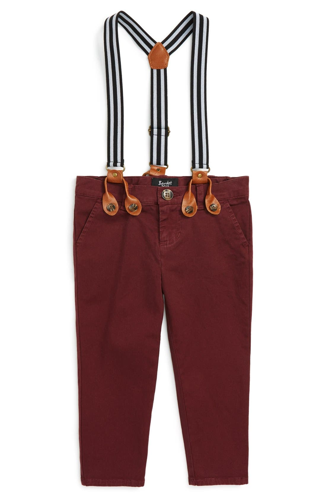Bardot Junior Basic Chino Pants & Suspenders (Baby Boys)