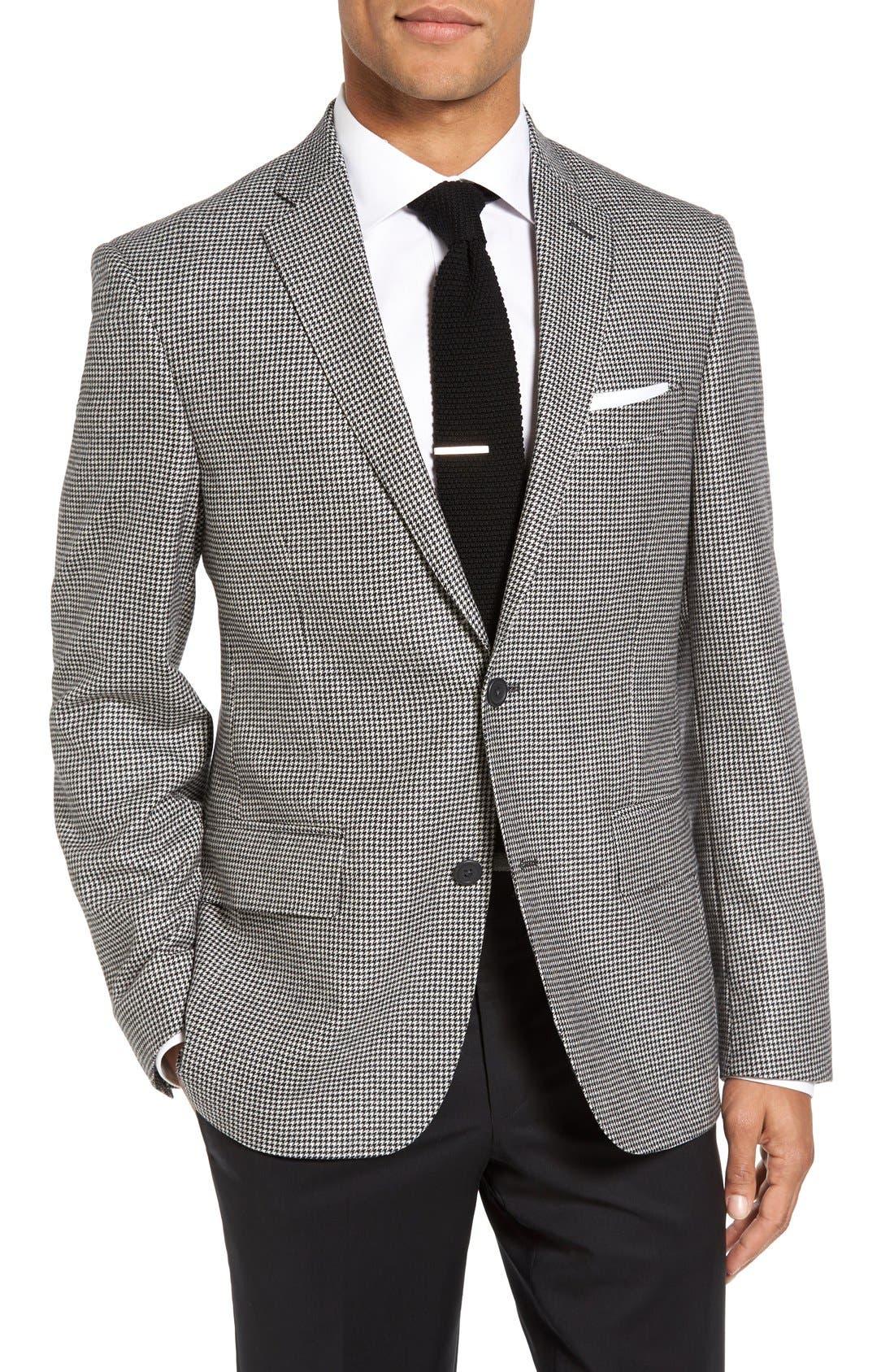 Nordstrom Men's Shop Classic Fit Houndstooth Wool & Cashmere Sport Coat