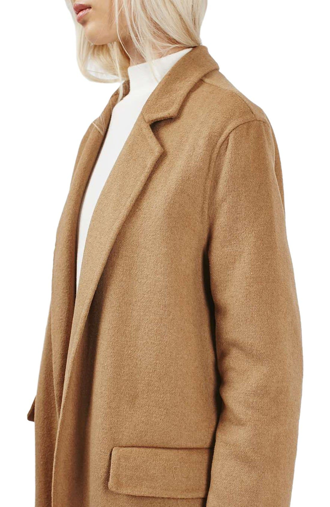 Alternate Image 3  - Topshop Butted Seam Duster Coat