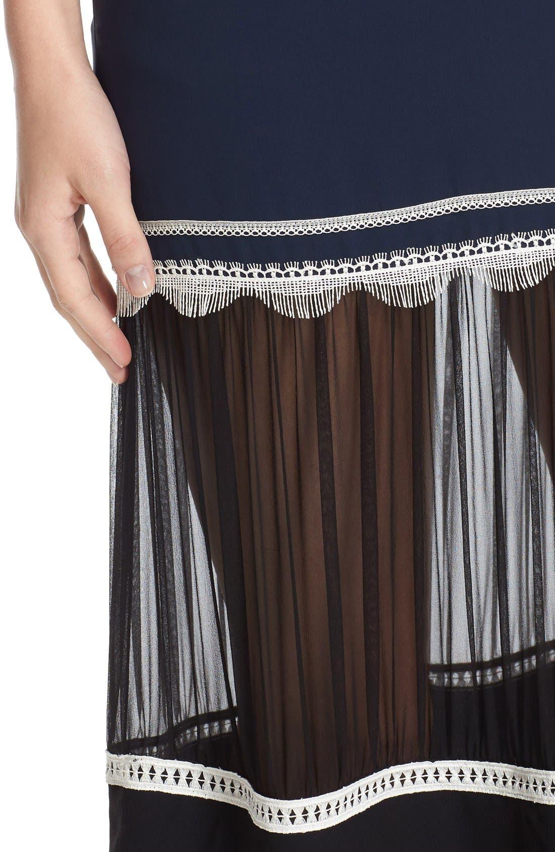 Alternate Image 4  - Jonathan Simkhai Fringe Silk Trumpet Skirt