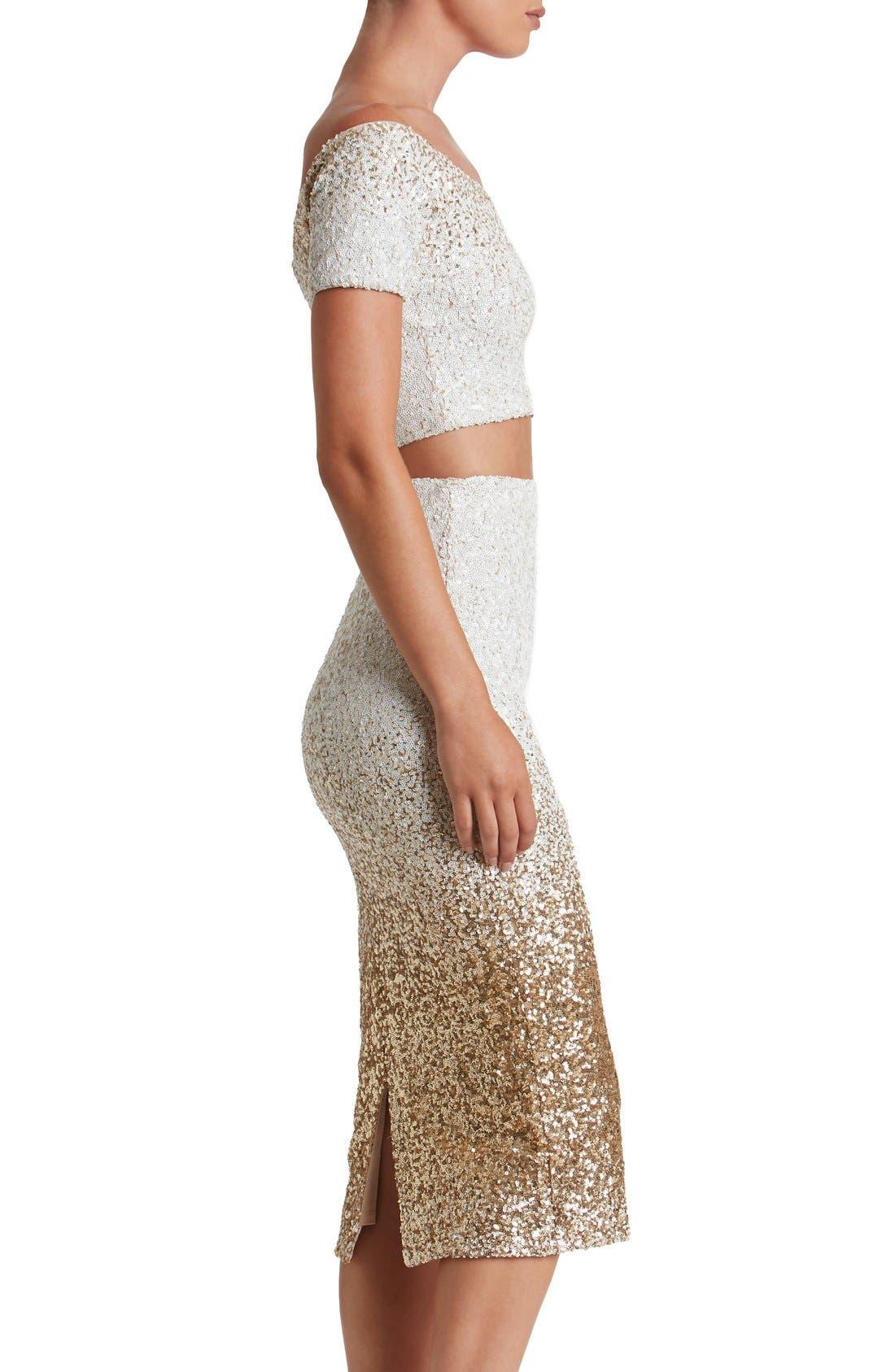 Alternate Image 4  - Dress the Population Emilia Sequin Two-Piece Dress