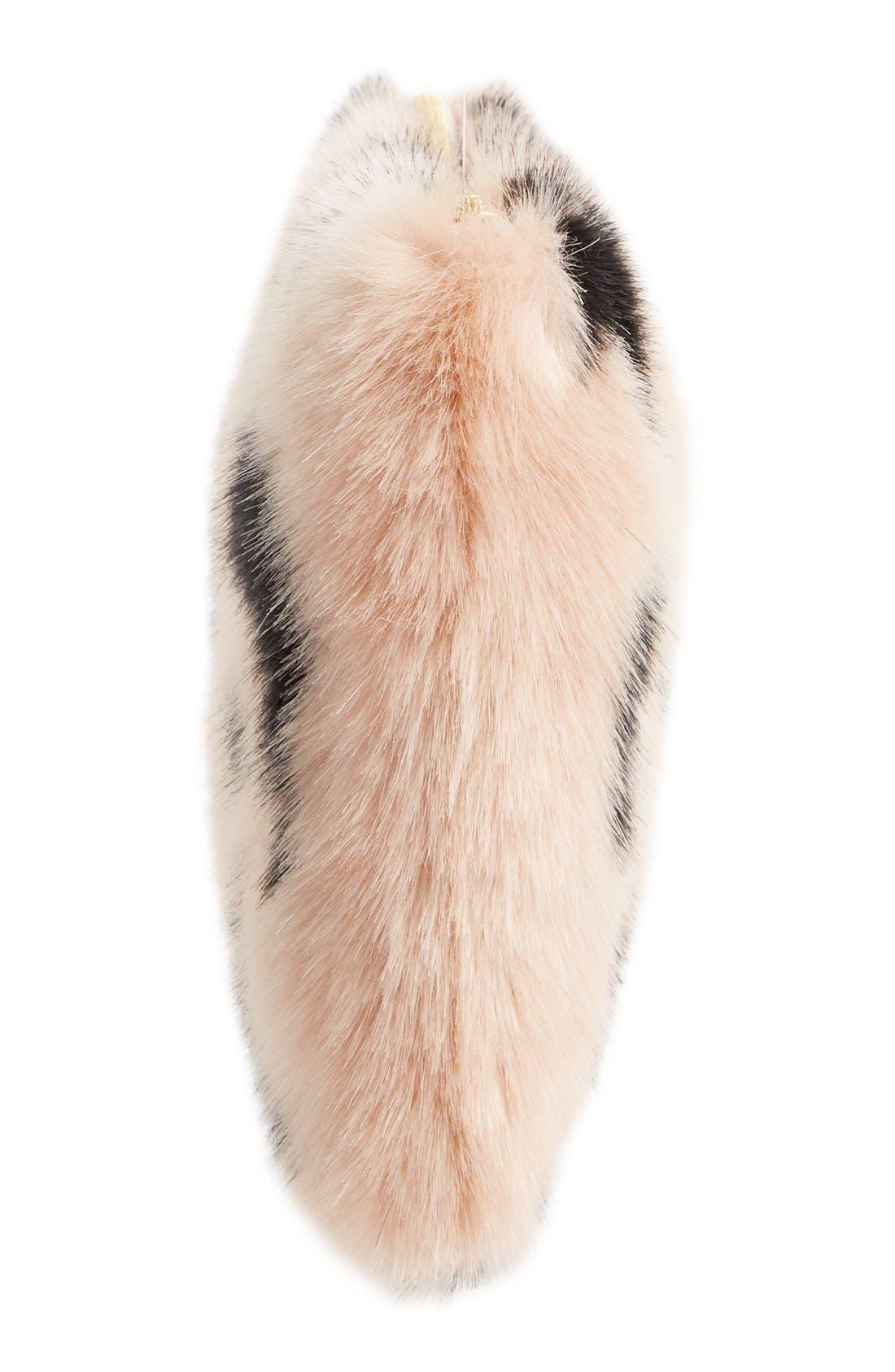 Alternate Image 5  - Shrimps Hubbard Faux Fur Zip Clutch