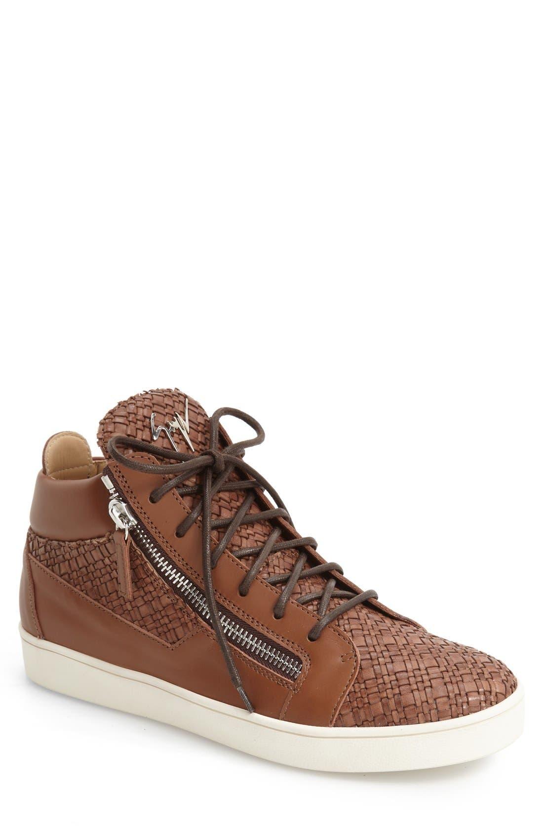 Giuseppe Zanotti Woven High Top Sneaker (Men)