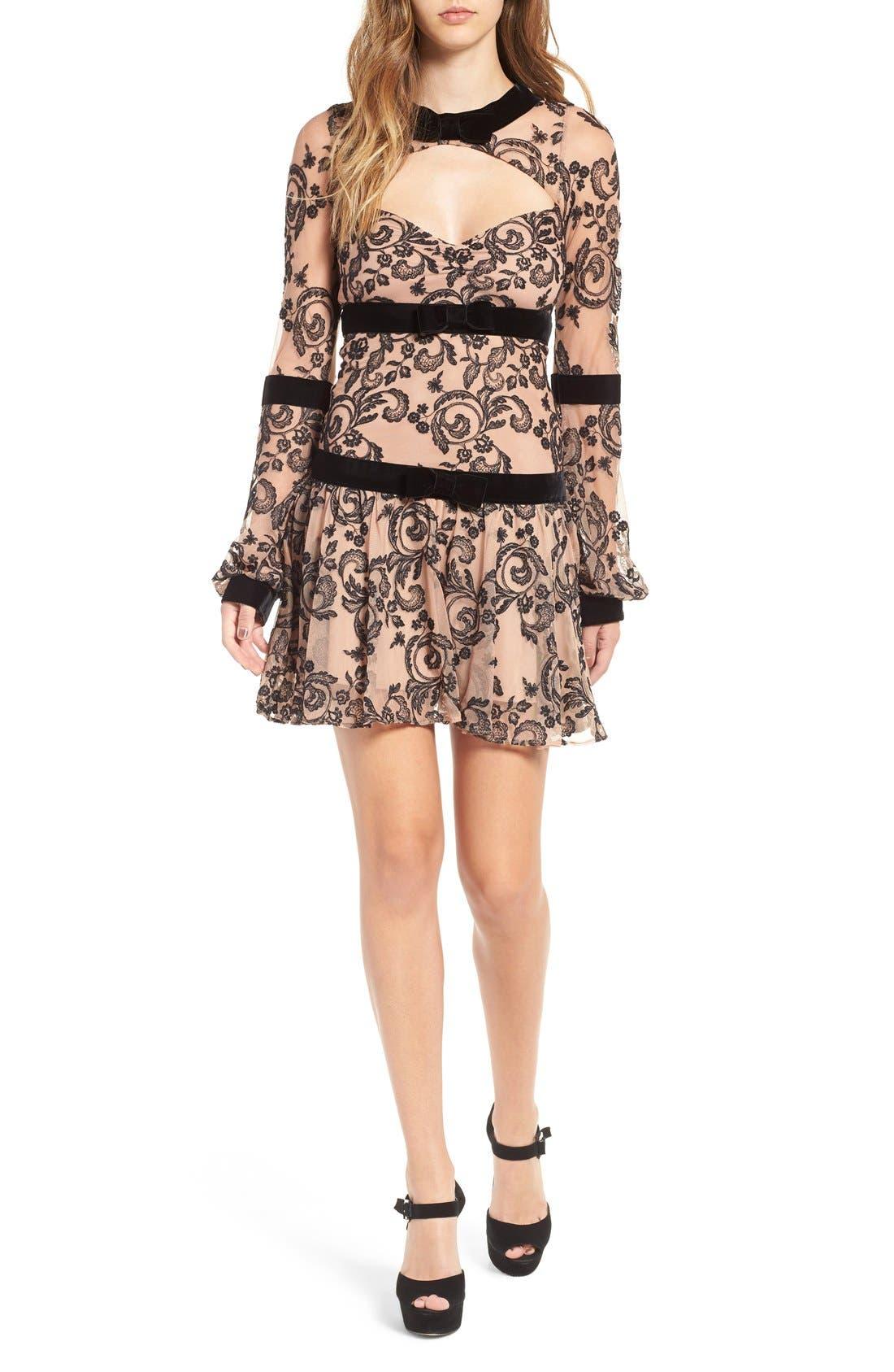 Main Image - For Love and Lemons Clemence Minidress