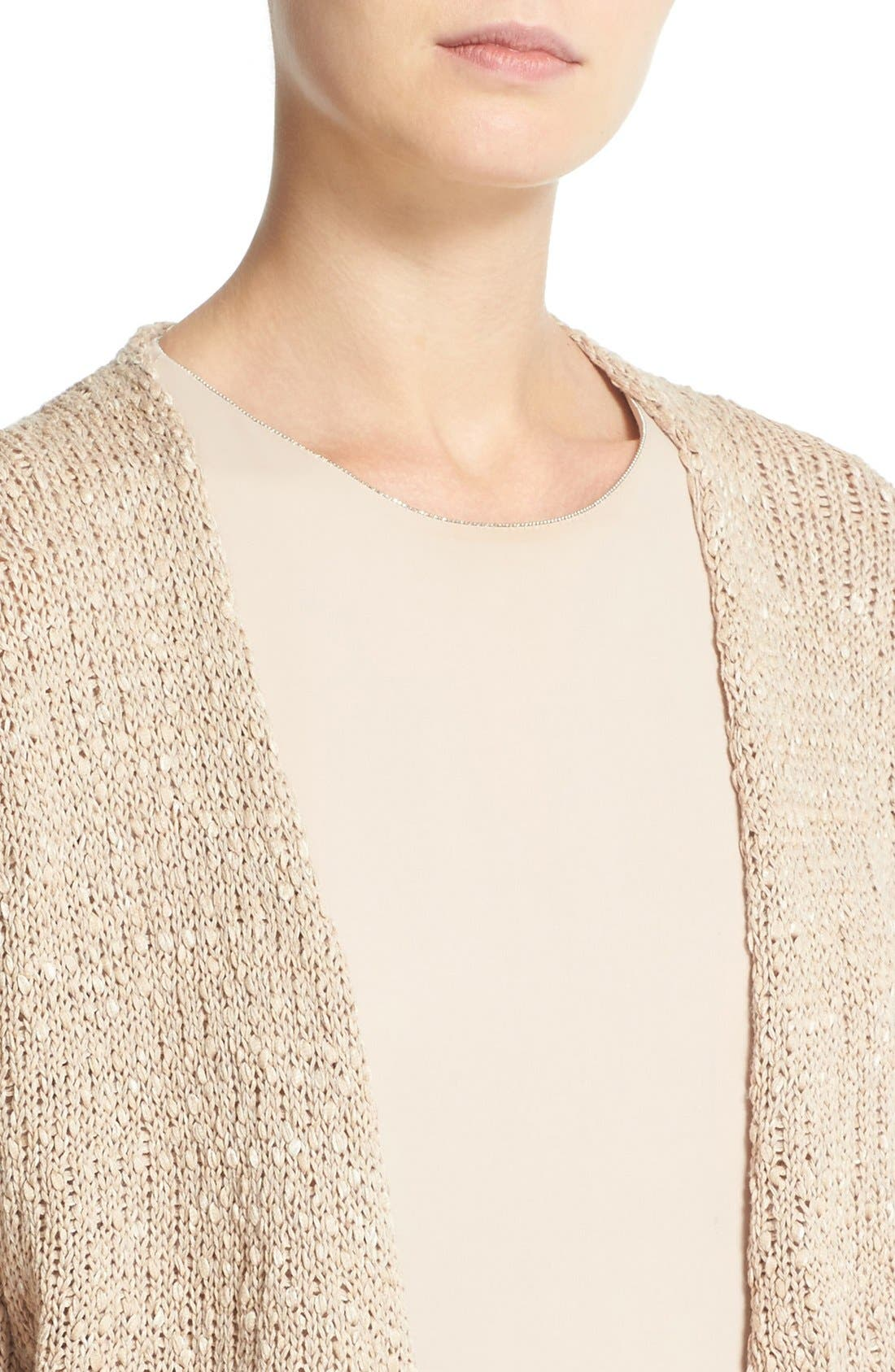 Alternate Image 6  - Fabiana Filippi Mixed Weave Cotton Blend Cardigan