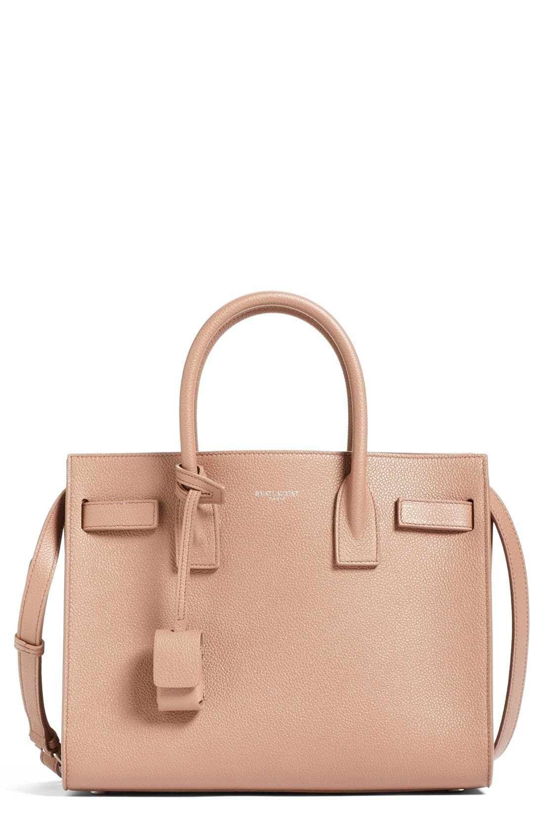 Alternate Image 1 Selected - Saint Laurent 'Baby Sac de Jour' Bonded Leather Tote
