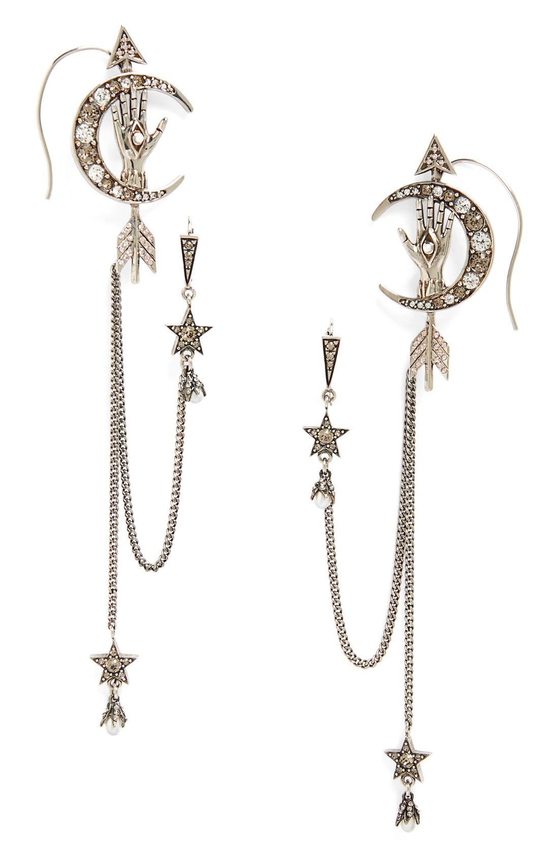 Alternate Image 1 Selected - Alexander McQueen Moon Ear Chains
