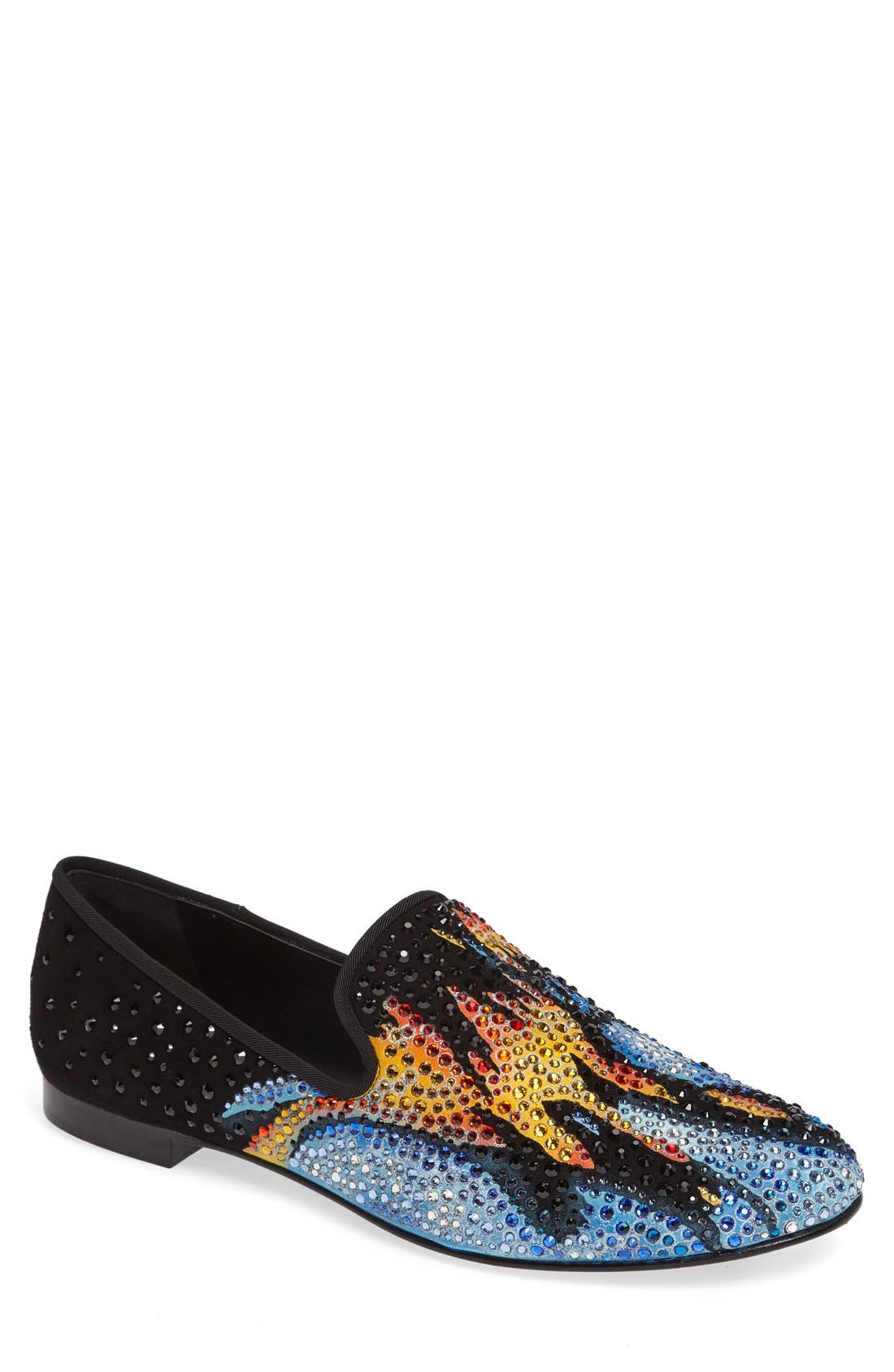 GIUSEPPE ZANOTTI Crystal Embellished Smoking Slipper