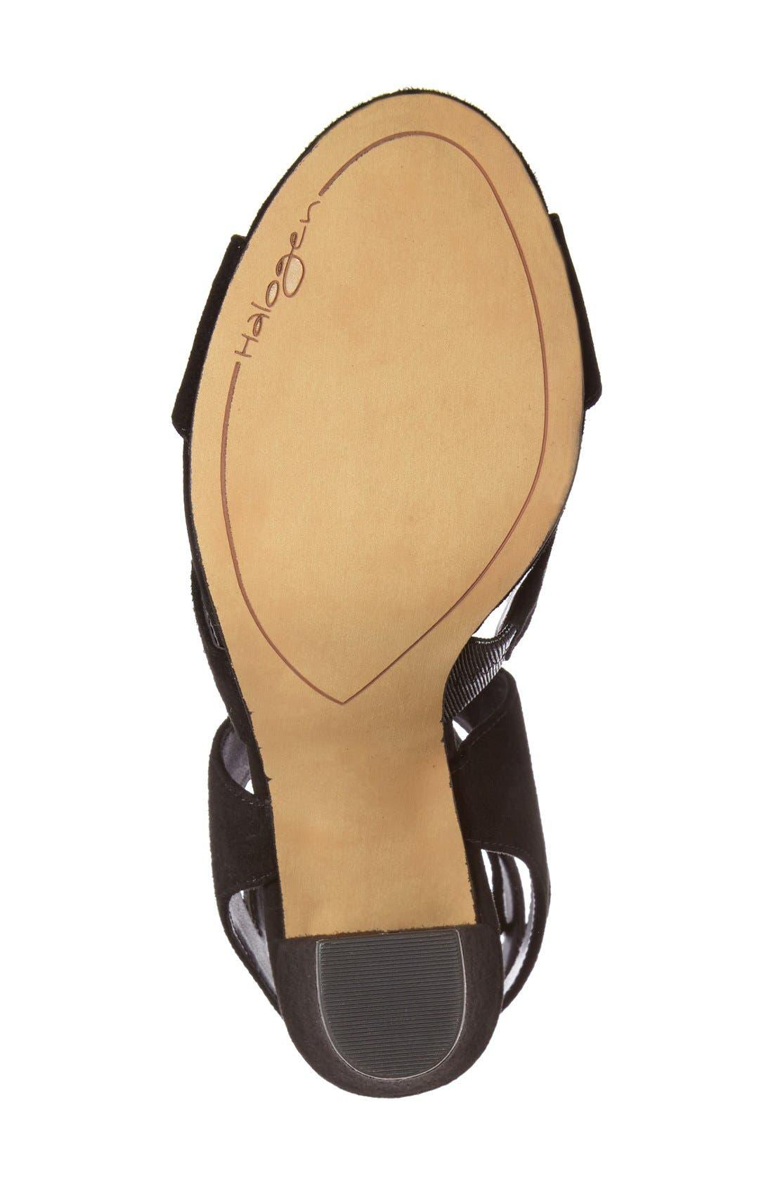 Alternate Image 4  - Halogen® Lani Strappy Lace-Up Sandal (Women)