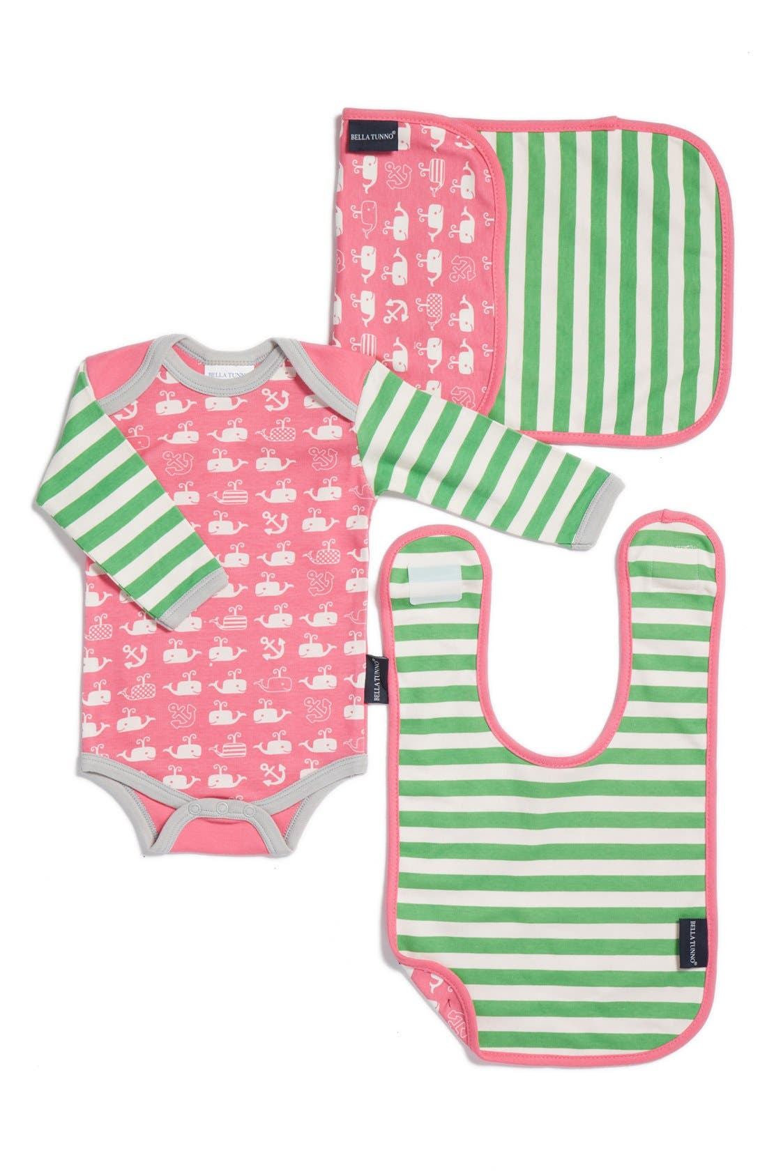 BELLA TUNNO Bodysuit, Bib & Burpie Cloth Set