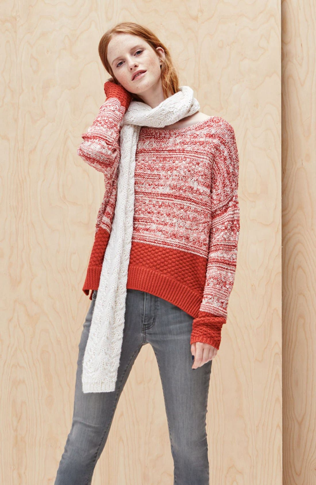 Alternate Image 2  - Caslon® Colorblock Marl Knit Sweater