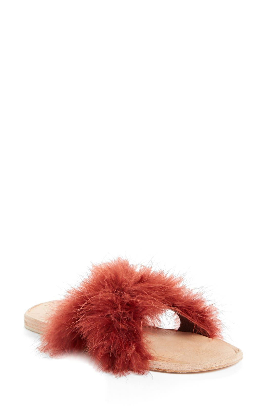 Brother Vellies Marabou Lamu Slide Sandal (Women)