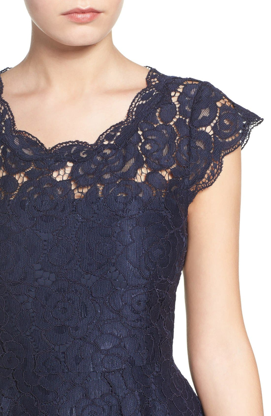 Alternate Image 5  - BB Dakota Lace Fit & Flare Dress
