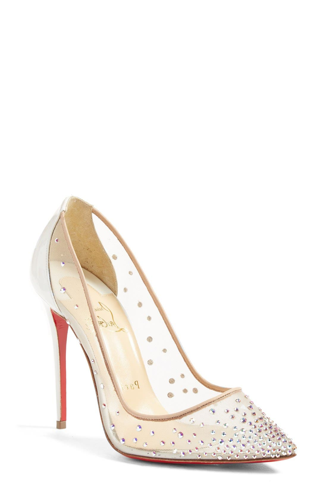 Alternate Image 1 Selected - Christian Louboutin Follies Strass Pointy Toe Pump
