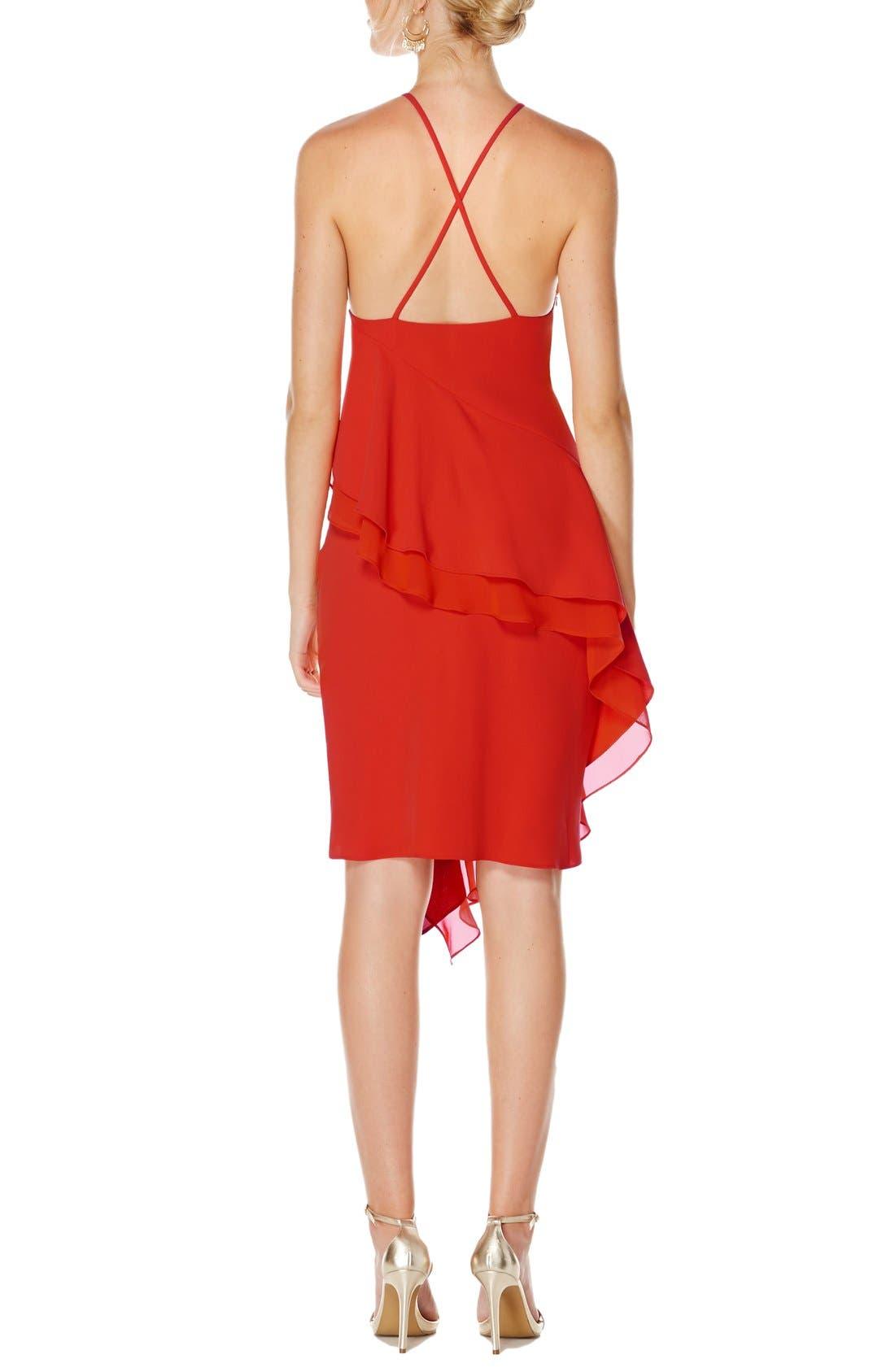 Alternate Image 2  - Laundry by Shelli Segal Chiffon Dress