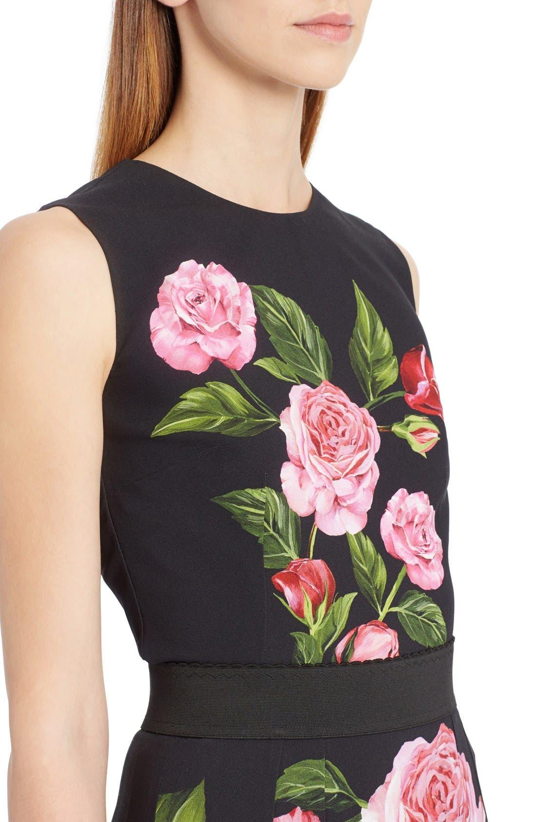 Alternate Image 5  - Dolce&Gabbana Rose Print Cady Top