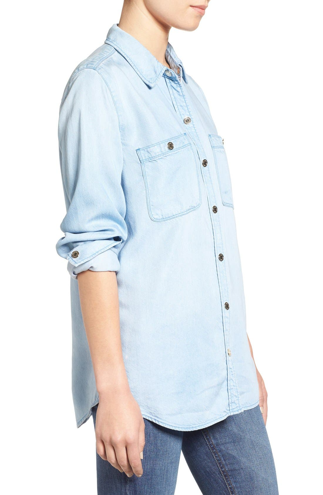 Alternate Image 3  - 7 For All Mankind® Boyfriend Chambray Shirt