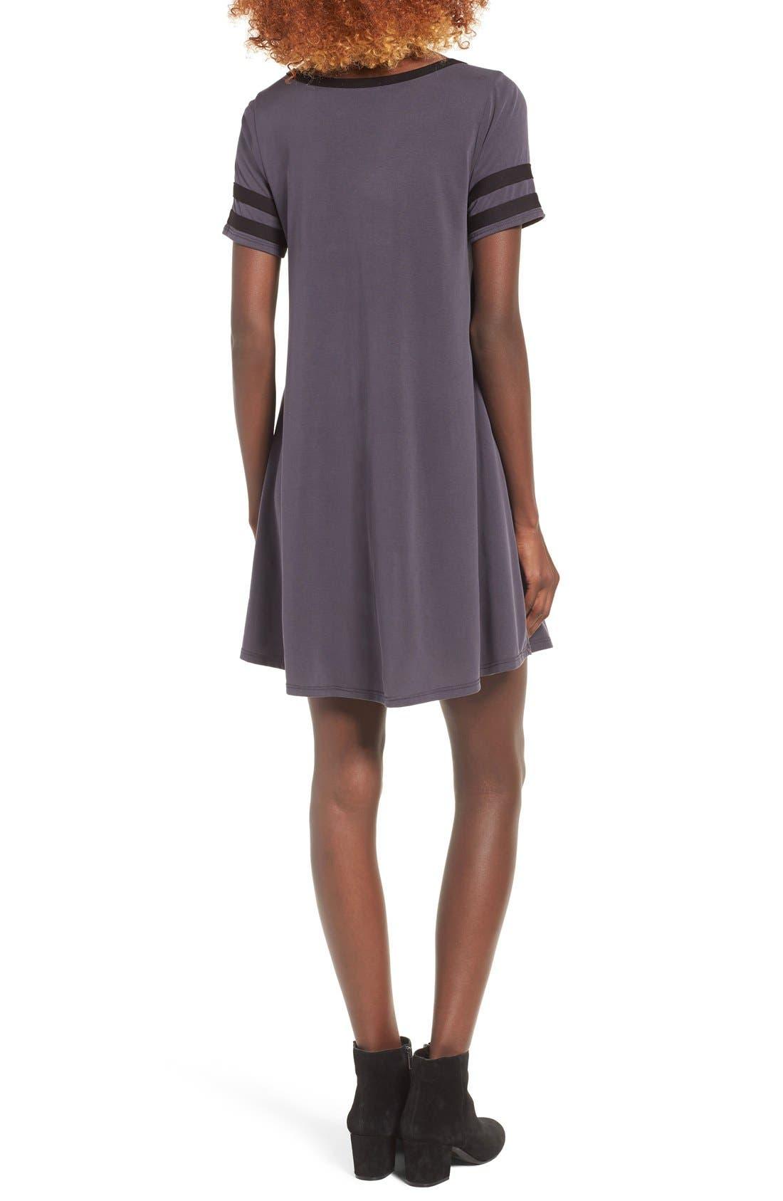 Alternate Image 3  - Socialite Varsity T-Shirt Dress