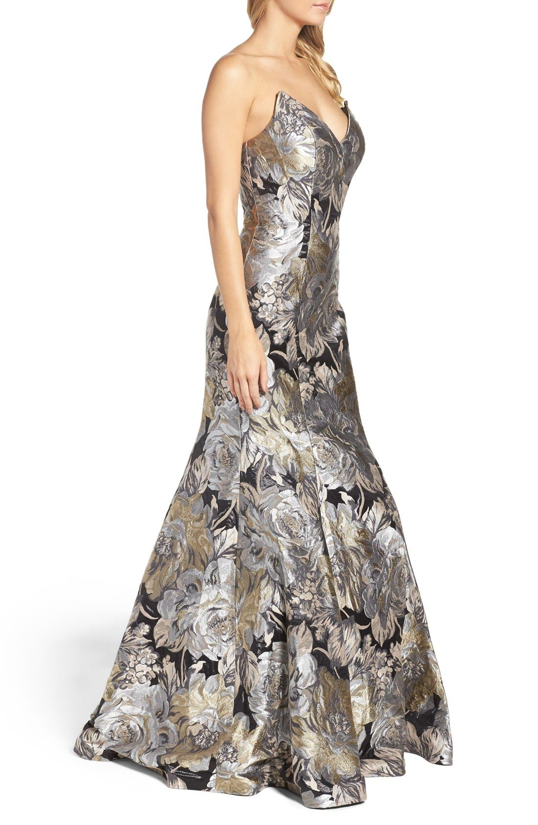 Alternate Image 3  - Jovani Metallic Mermaid Gown