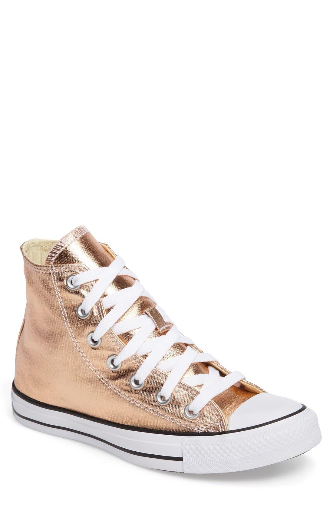 Alternate Image 1 Selected - Converse Chuck Taylor® All Star® Metallic High Top Sneaker (Women)