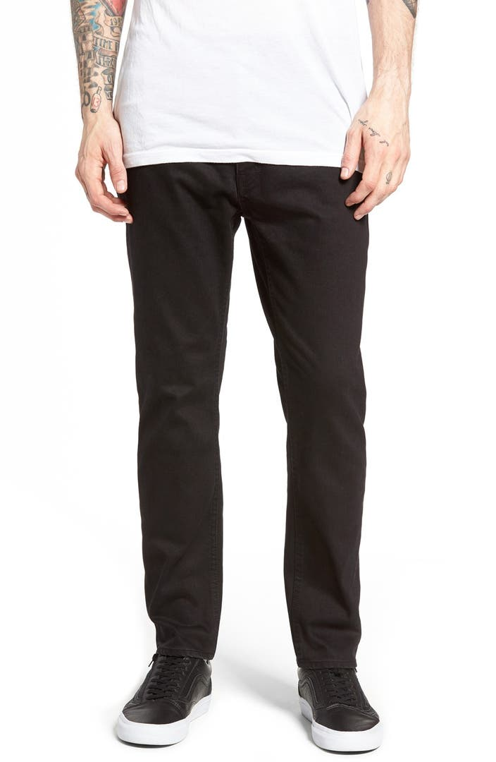 cheap monday in law skinny fit jeans rinse black nordstrom. Black Bedroom Furniture Sets. Home Design Ideas
