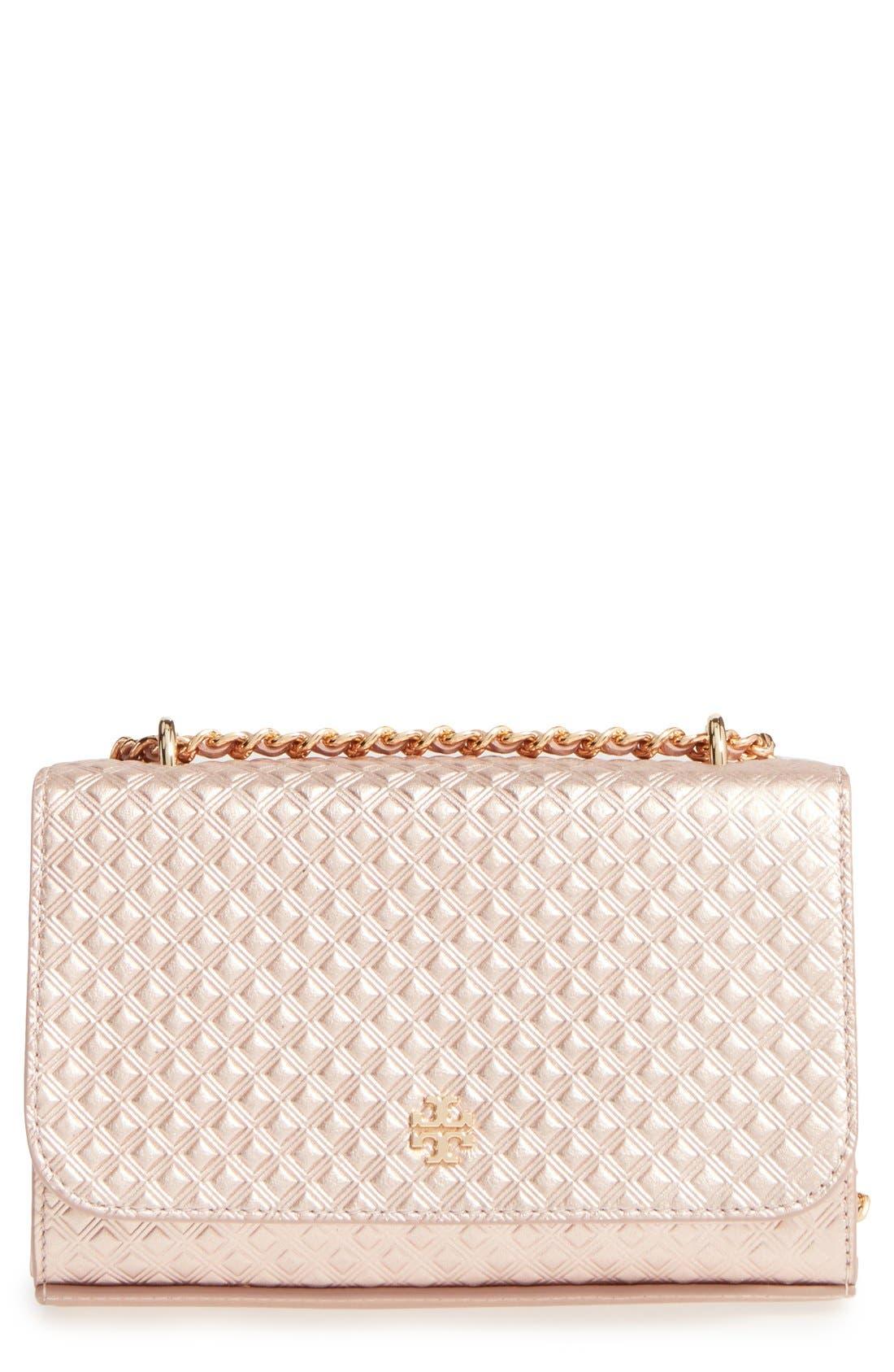 Alternate Image 1 Selected - Tory Burch Marion Embossed Leather Crossbody Bag
