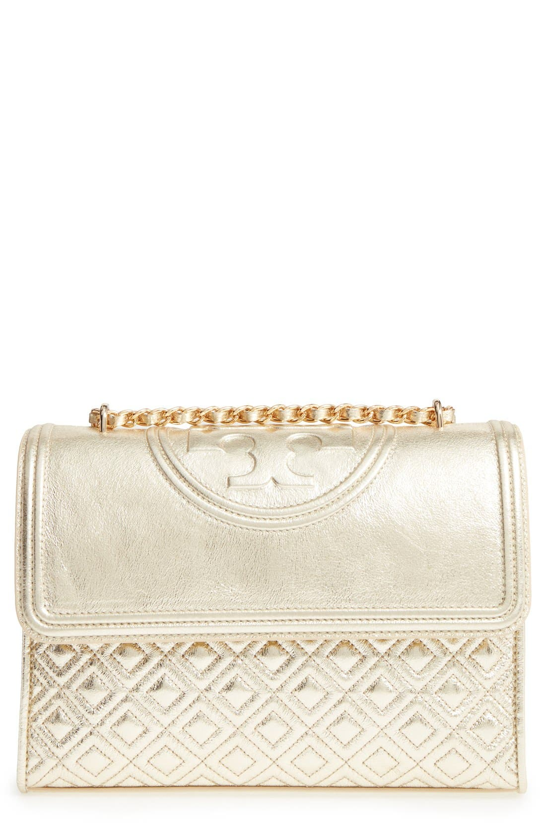 Alternate Image 1 Selected - Tory Burch Fleming Leather Shoulder Bag