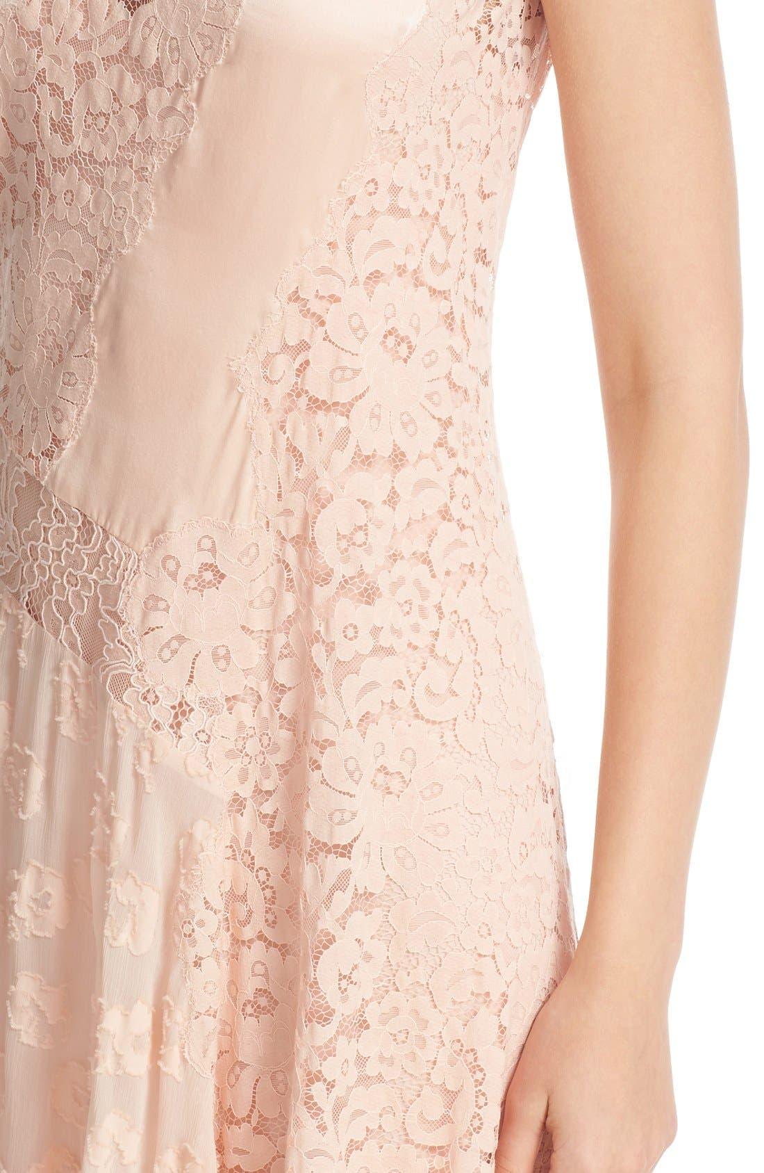 Alternate Image 4  - Rebecca Taylor Chevron Lace Midi Dress