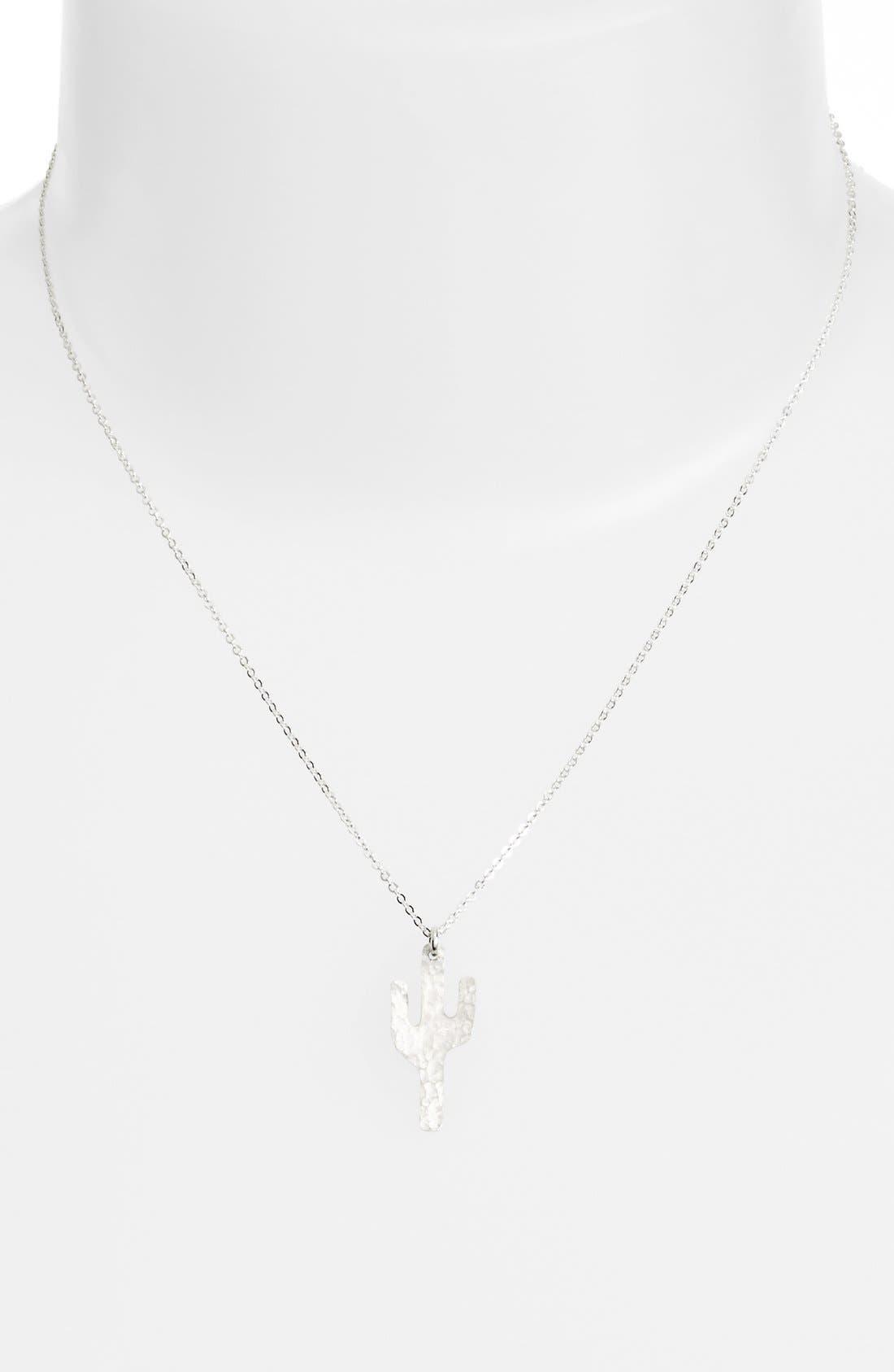 Alternate Image 2  - Nashelle Cactus Pendant Necklace
