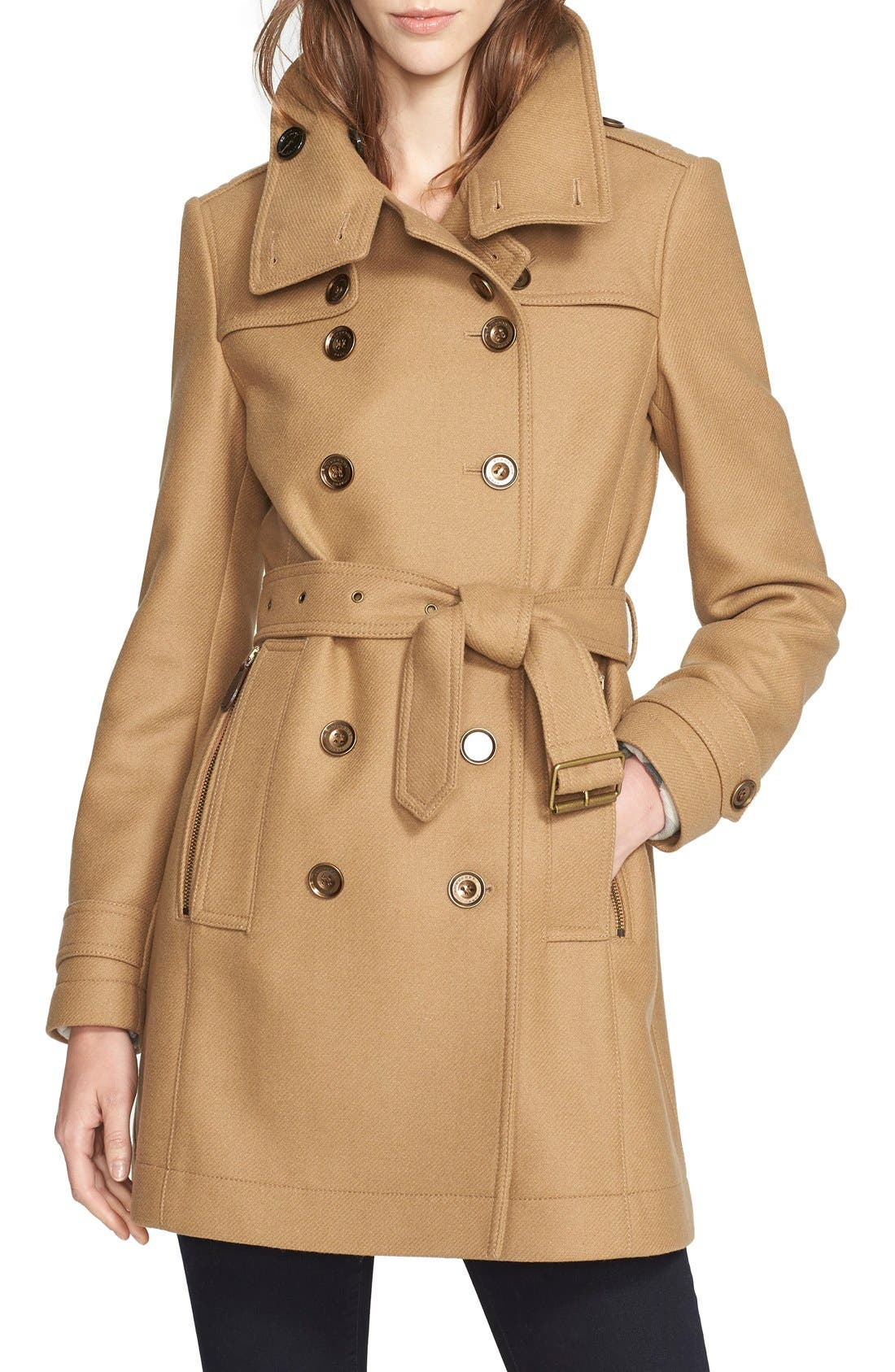 Alternate Image 3  - Burberry Daylesmoore Wool Blend Double Breasted Trench Coat