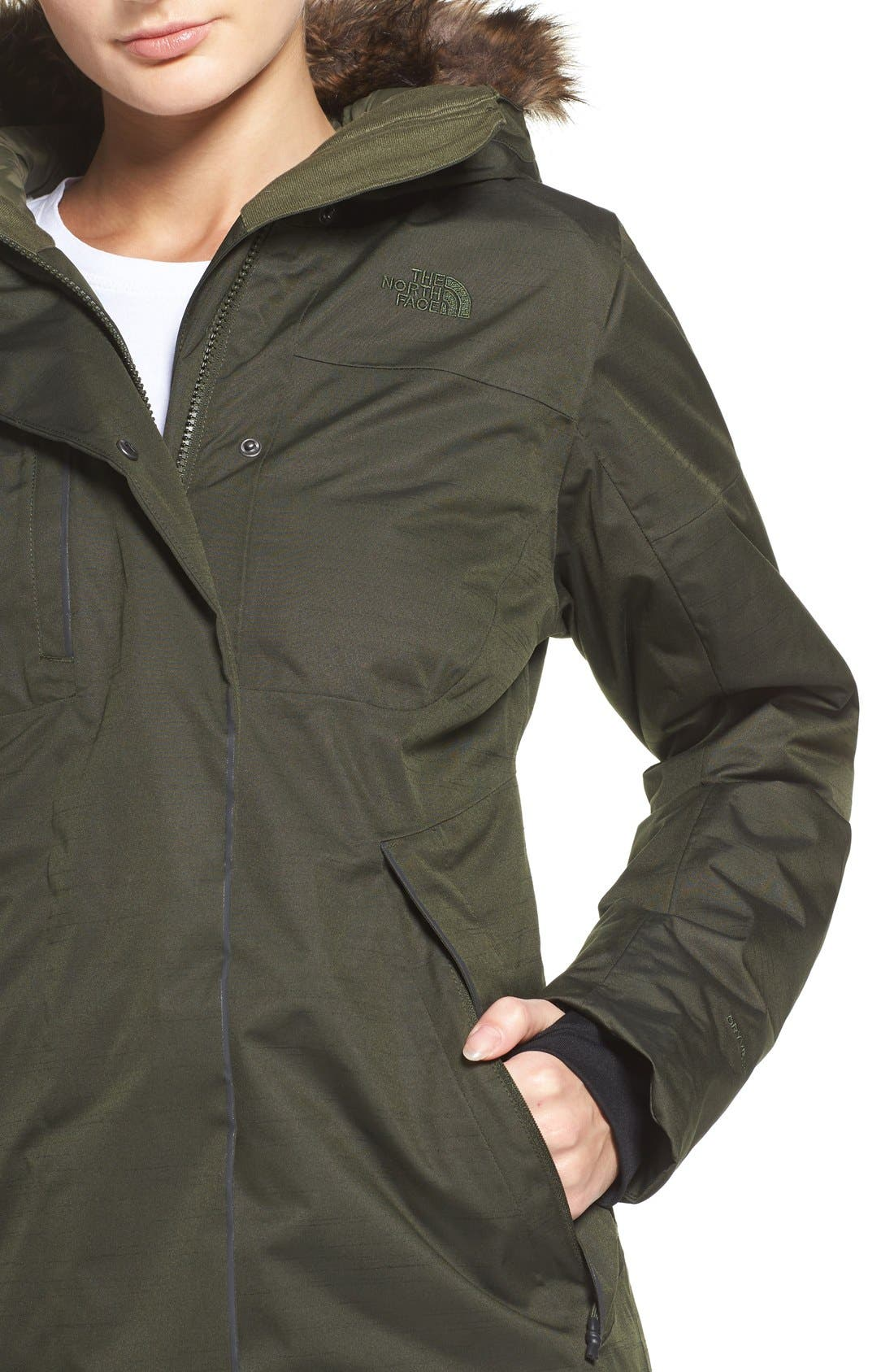 Alternate Image 4  - The North Face Far Northern Waterproof Down Parka with Faux Fur Trim