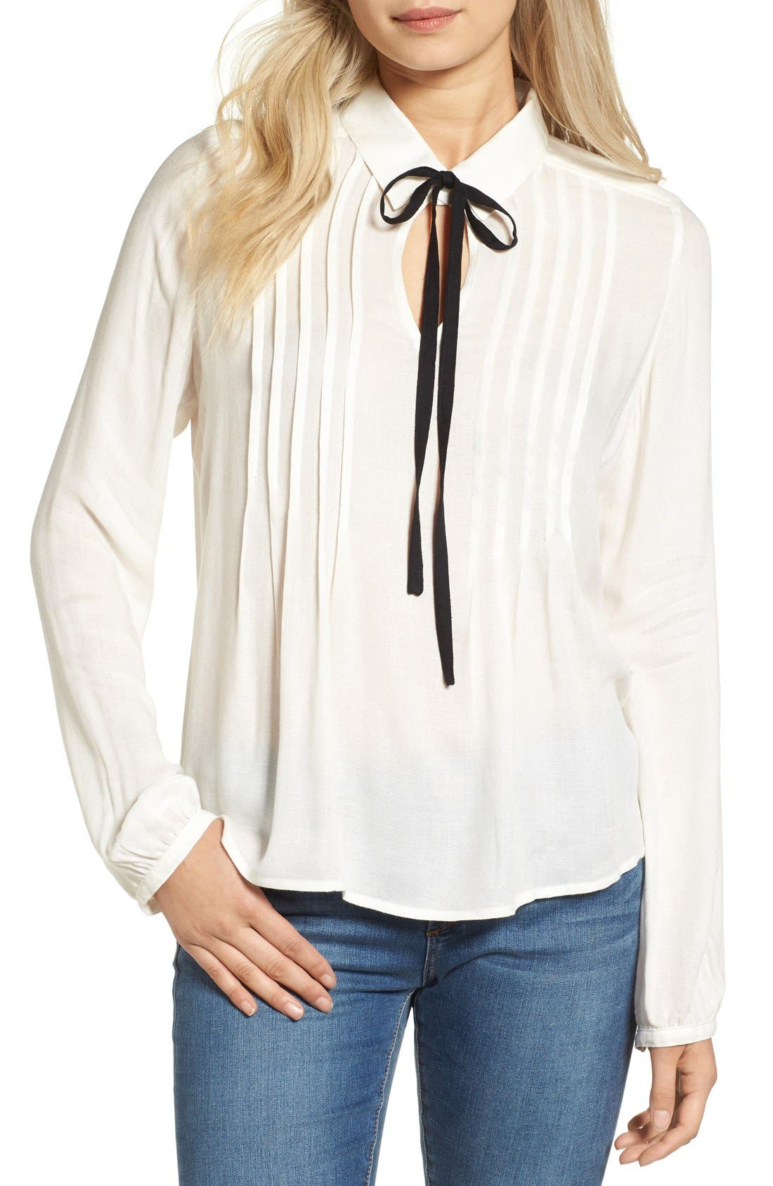 Alternate Image 1 Selected - BP. Tie Neck Blouse