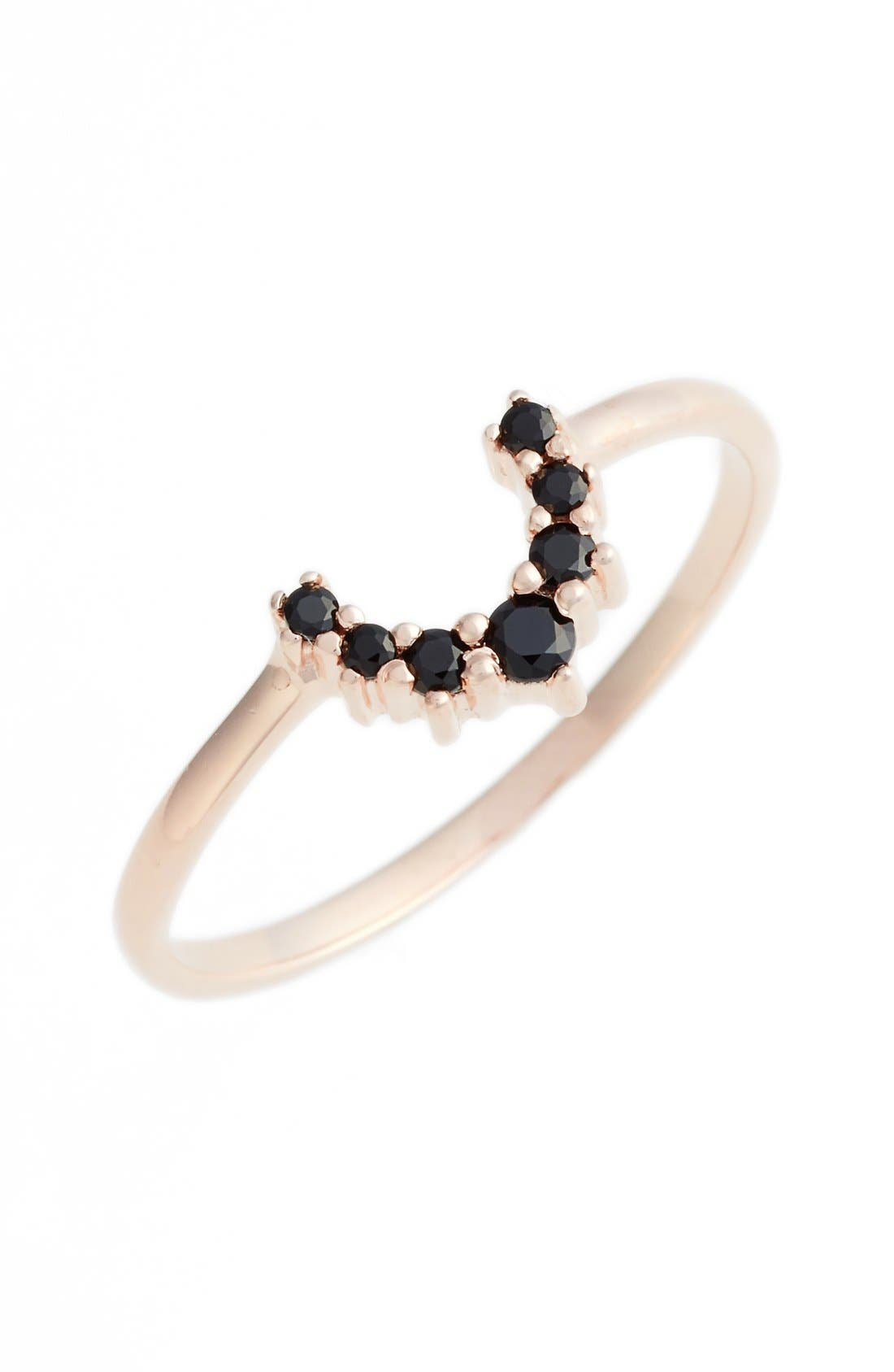 Leah Alexandra Crescent Ring