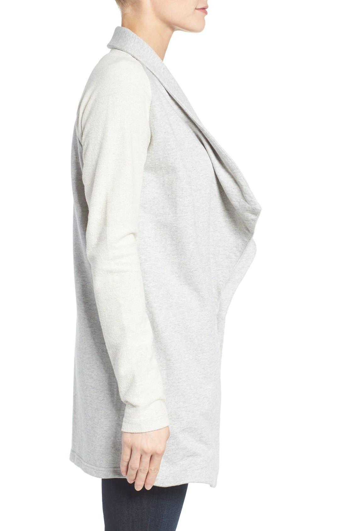 Alternate Image 3  - Pleione Reverse Knit Terry Jacket
