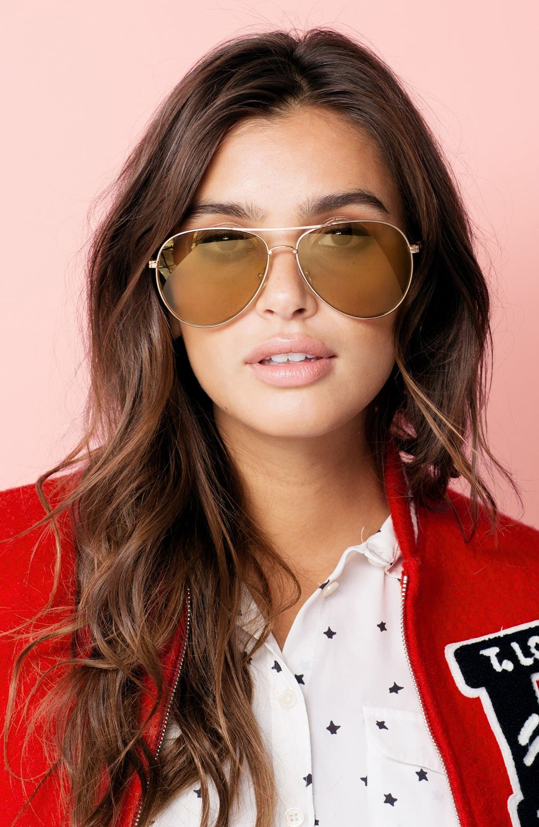 Alternate Image 2  - Sonix Lodi 62mm Mirrored Aviator Sunglasses