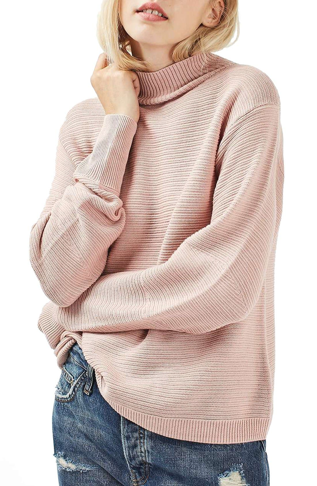 Main Image - Topshop Mixed Stitch Sweater