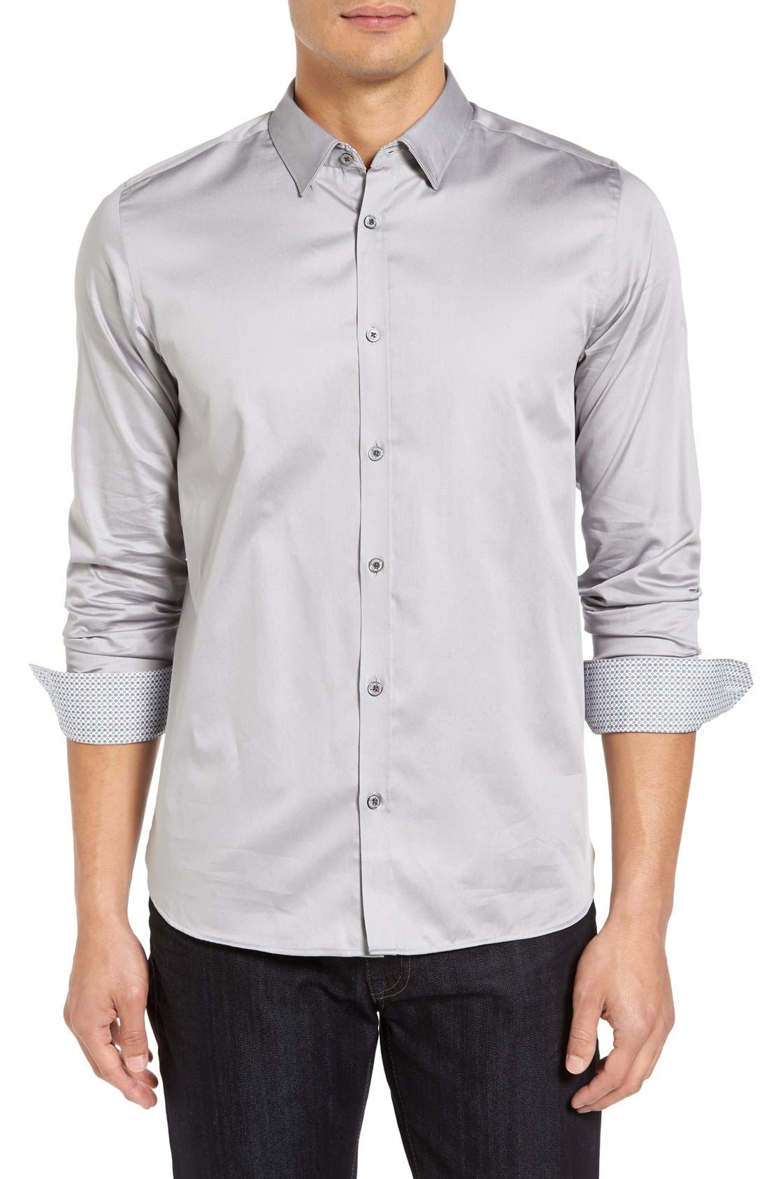 Alternate Image 1 Selected - Ted Baker London Plancuf Extra Slim Fit Stretch Sport Shirt