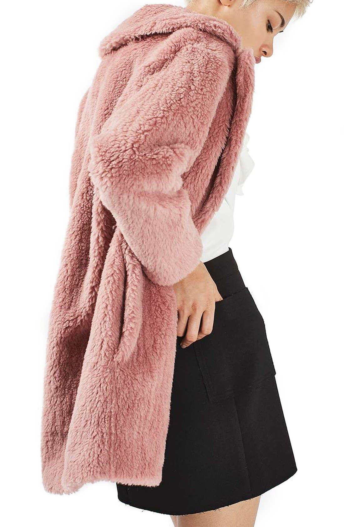 Alternate Image 3  - Topshop Faux Fur Coat