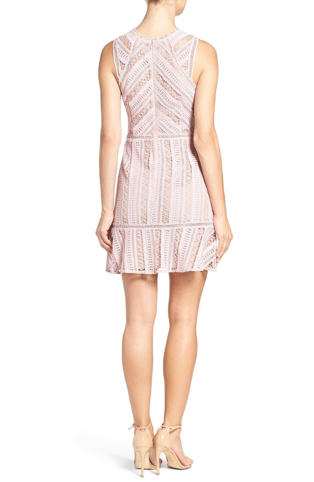 Alternate Image 2  - Greylin Lace Fit & Flare Dress