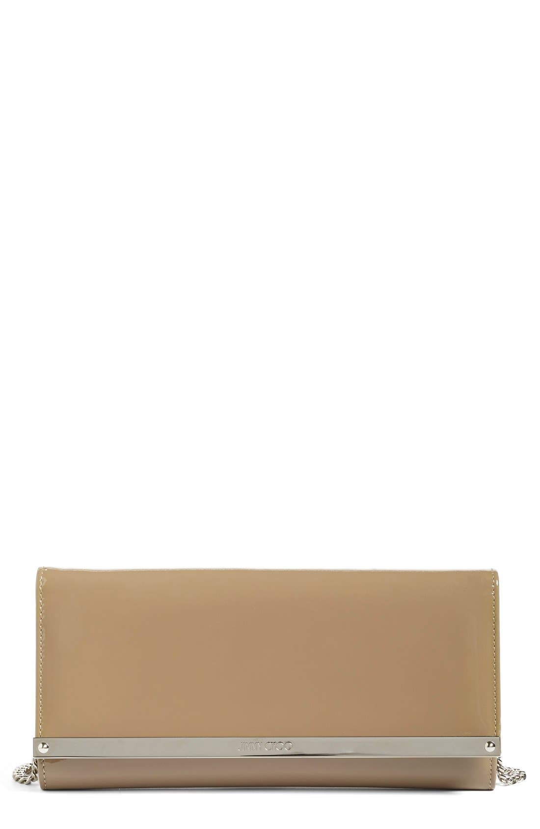 JIMMY CHOO 'Milla' Patent Leather Wallet on a